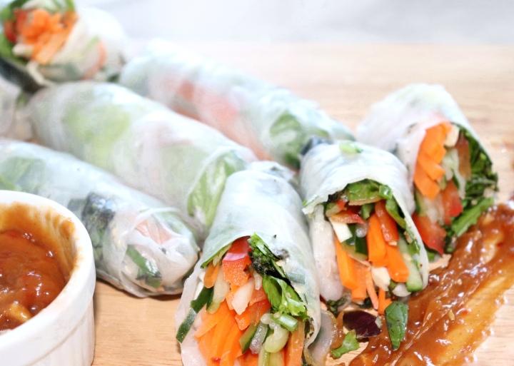 Fresh Veggie Wraps -You won't MissMeat